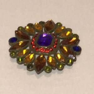 Lovely multi colored Brooch floral
